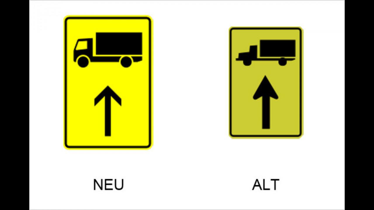 Vorwegweiser für Lastkraftwagen