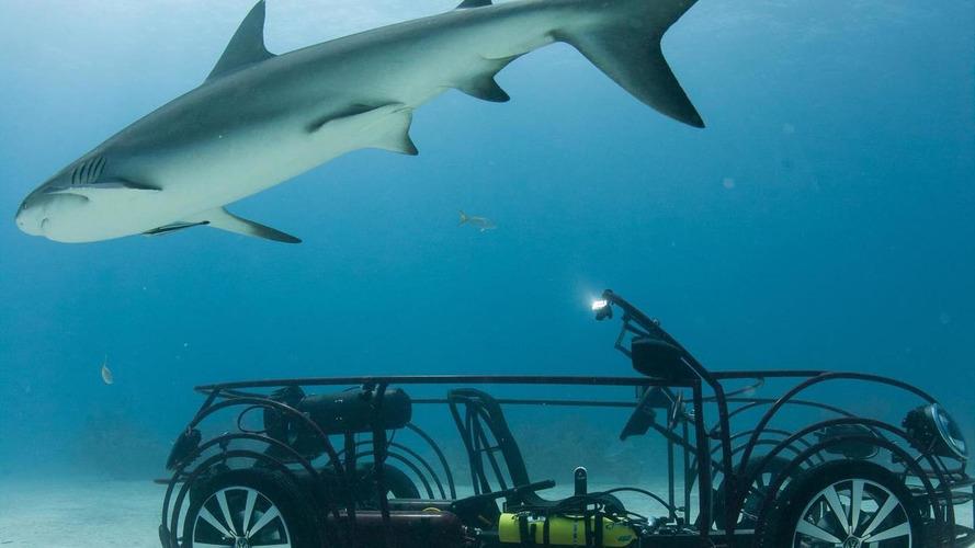 Volkswagen Beetle Convertible shark cage unveiled for Shark Week