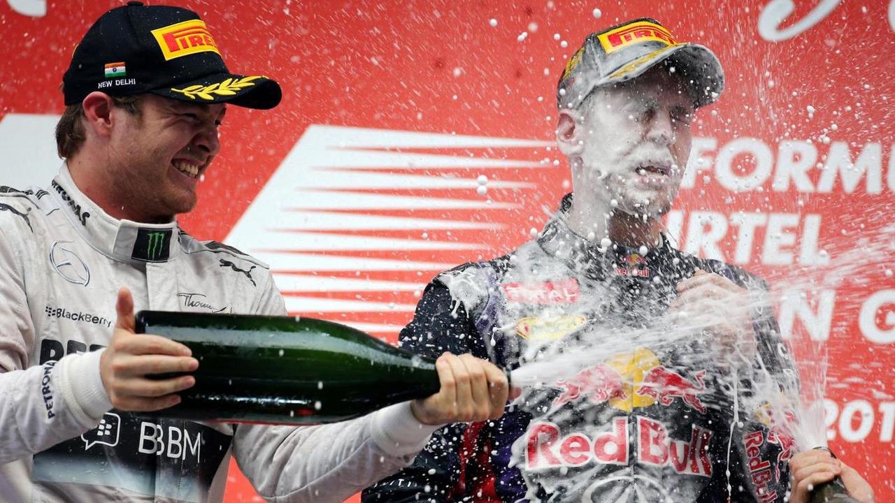 Nico Rosberg and Sebastian Vettel 27.10.2013 Indian Grand Prix