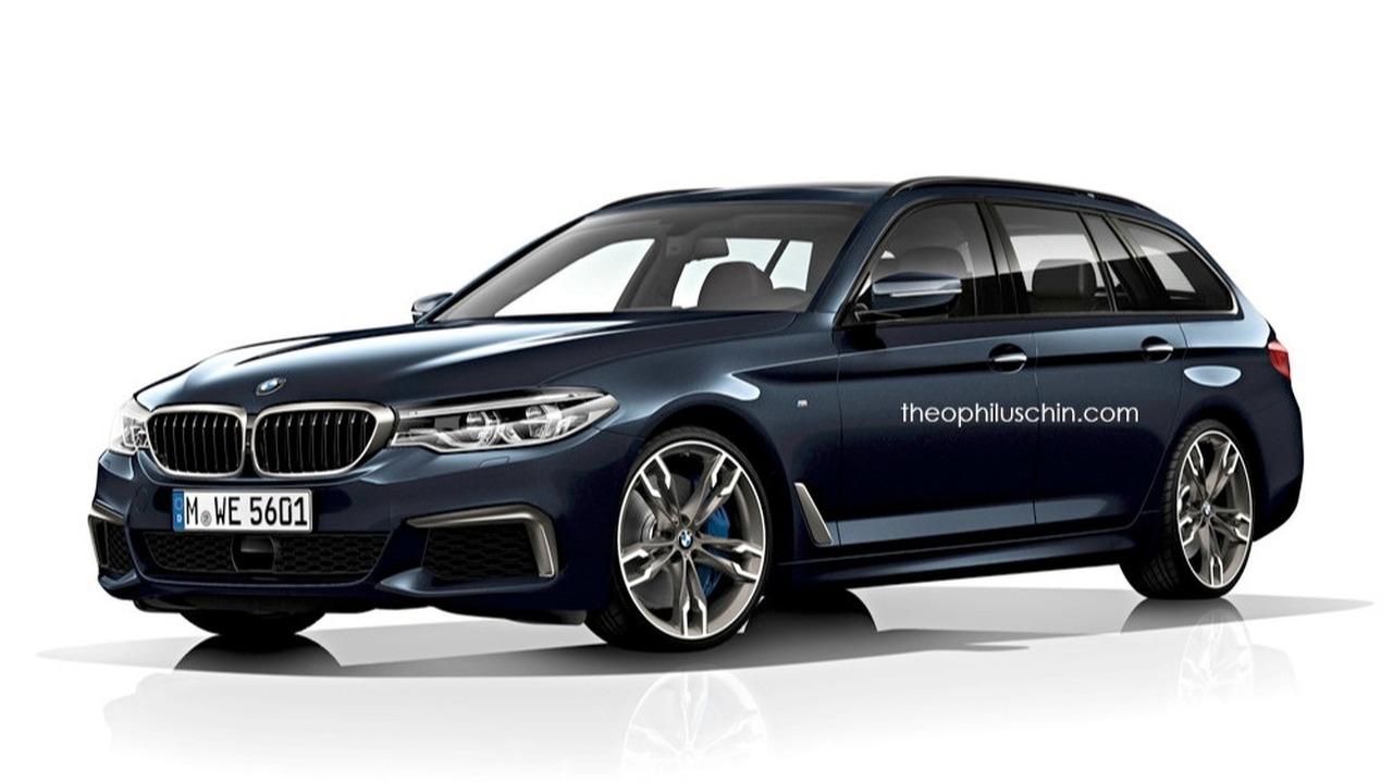 BMW Série 5 Touring 2017 Rendering