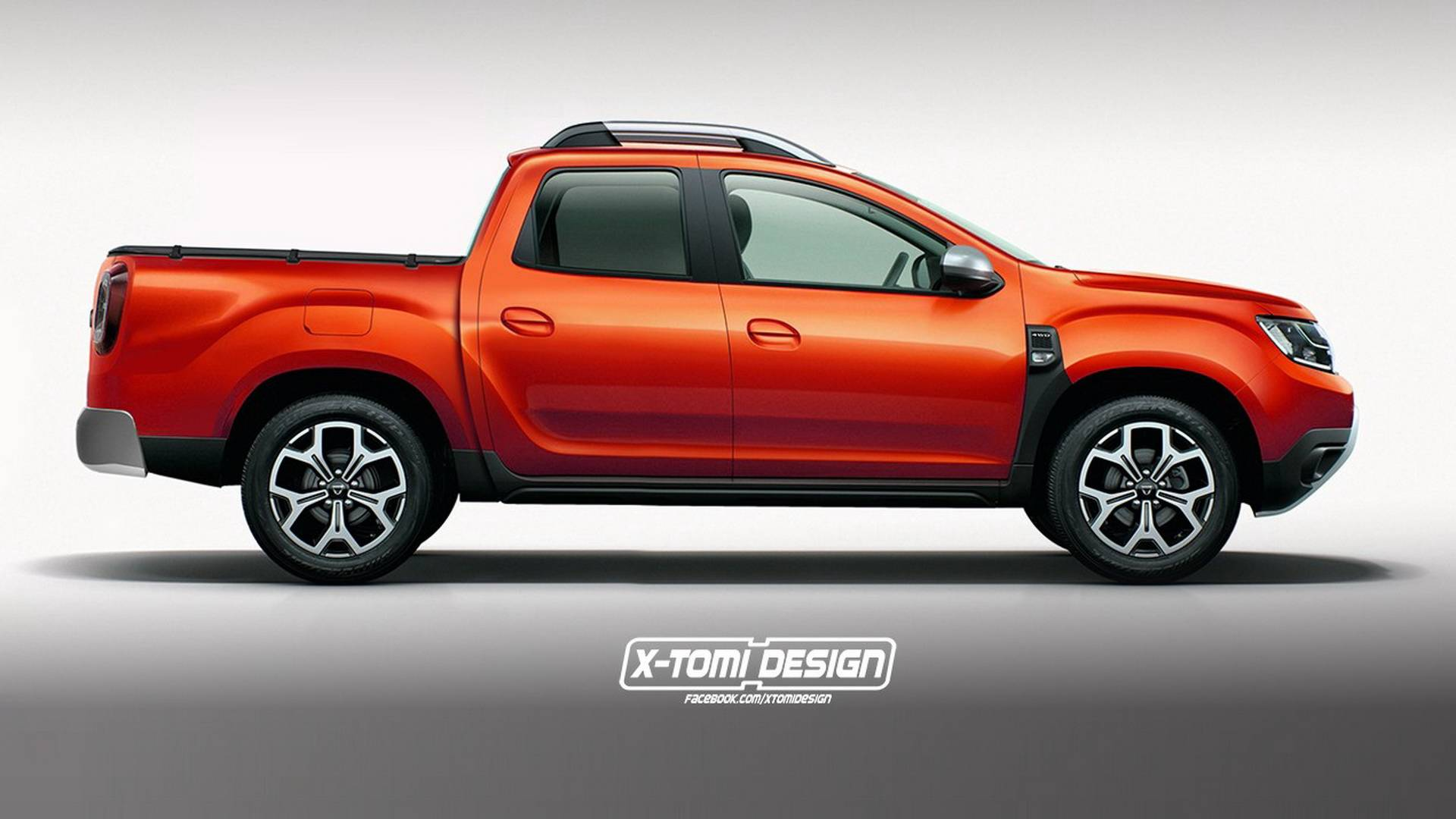 2018 dacia duster rendered as pickup gt and three door. Black Bedroom Furniture Sets. Home Design Ideas