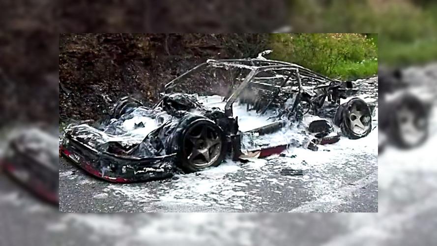 Rare Ferrari F40 Prototype Burnt To A Crisp