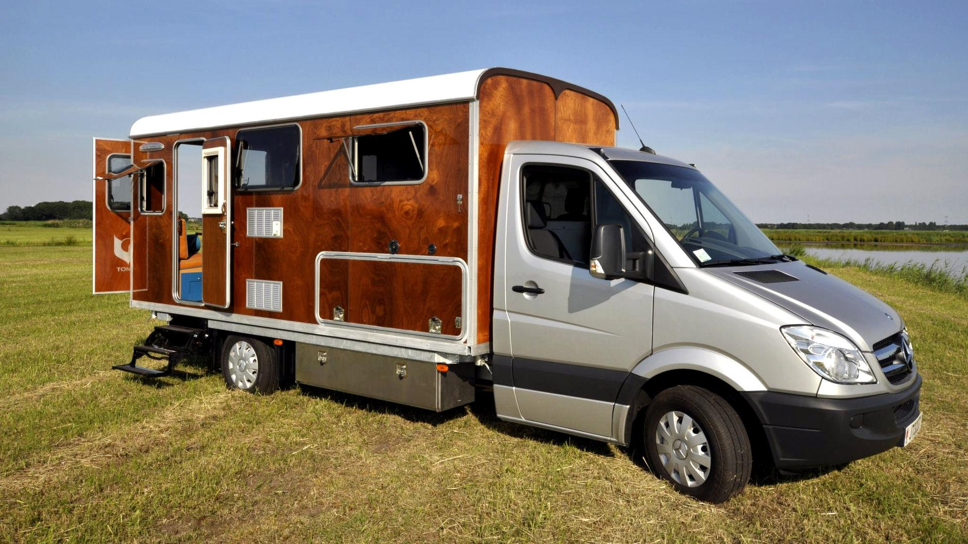 This mercedes sprinter camper is not your typical woody for Mercedes benz campervan usa