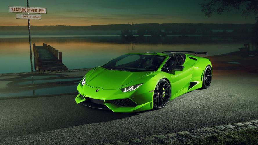Lamborghini Huracan Spyder Novitec ile daha geniş ve daha güçlü