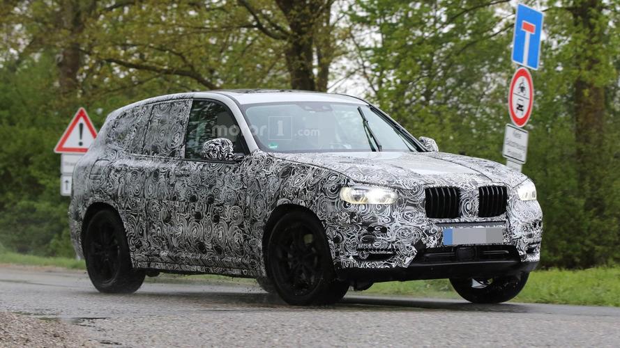 2017 BMW X3 spied inside & out