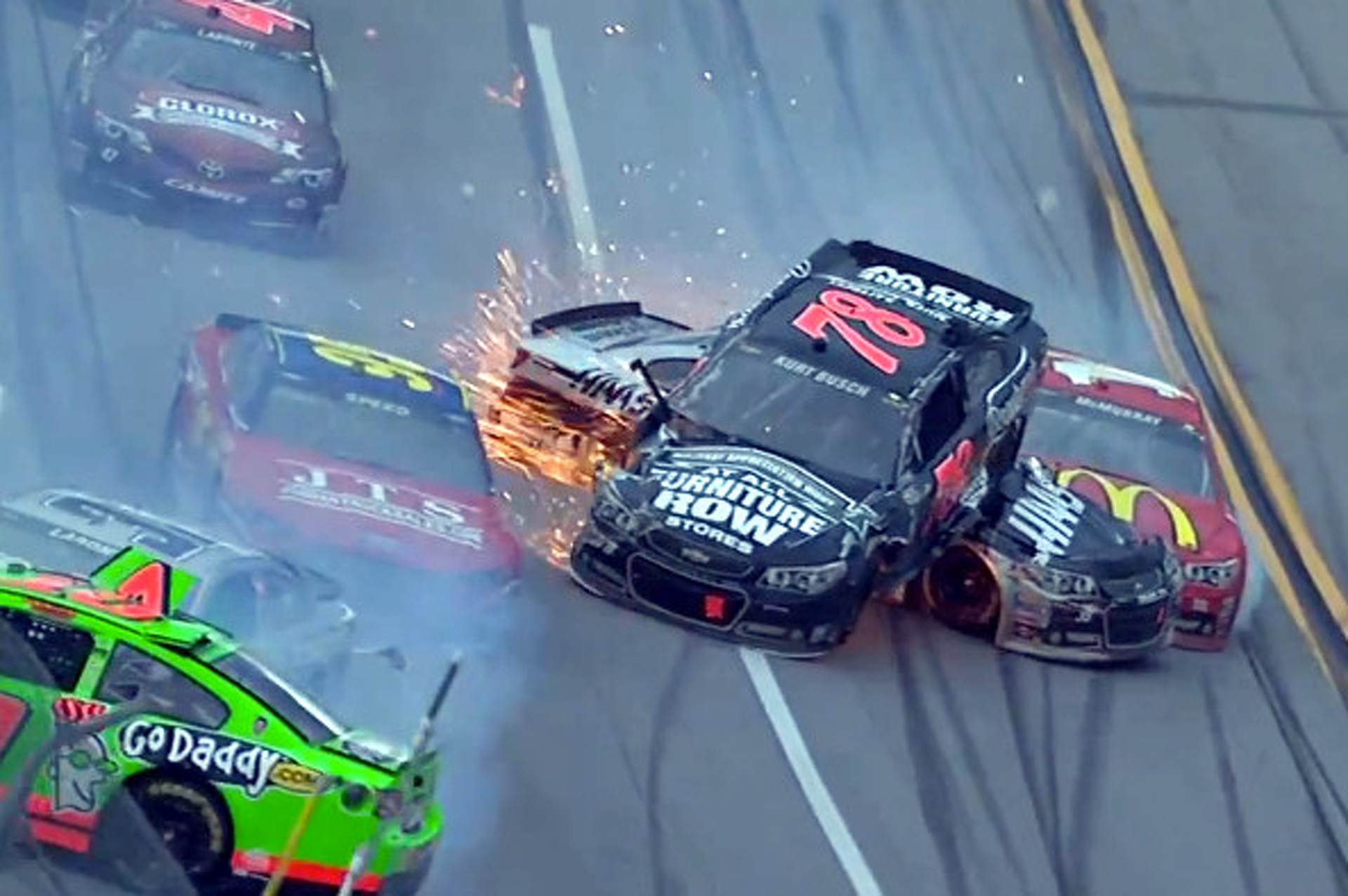 Video: 'The Big One' Strikes Again at Talladega