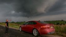 Jaguar XF storm chasing