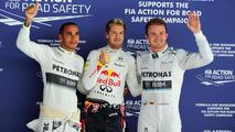 Nico Rosberg with Sebastian Vettel and Lewis Hamilton 26.10.2013 Indian Grand Prix
