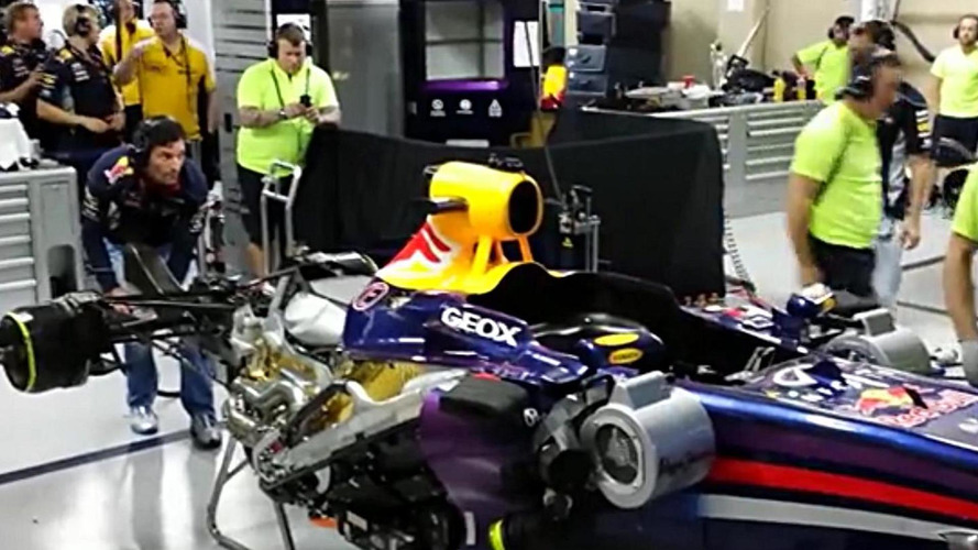 Red Bull's F1 V8 engine fires for last time - Ecclestone still thinks V6 switch bad idea [video]