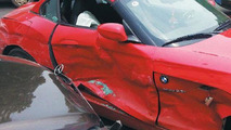 Crashed Mercedes-Benz S-Class and BMW Z4 10.07.2013