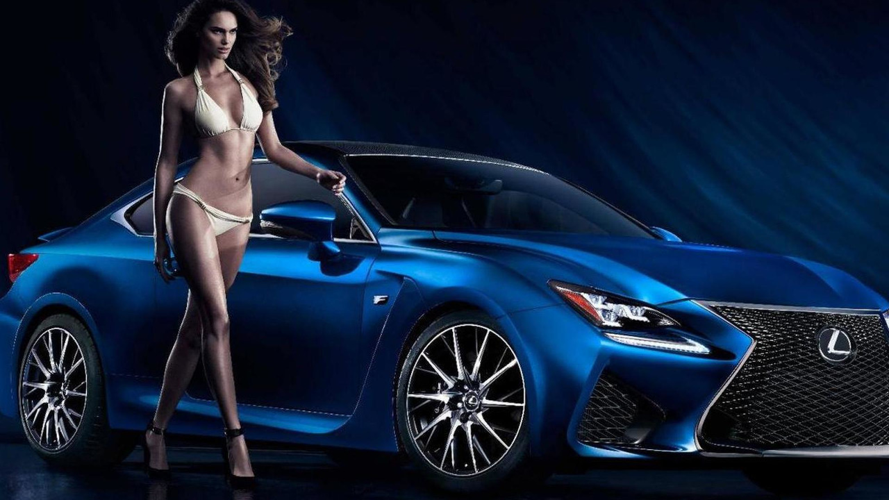 Lexus RC F and swimsuit model Netasha Bernard