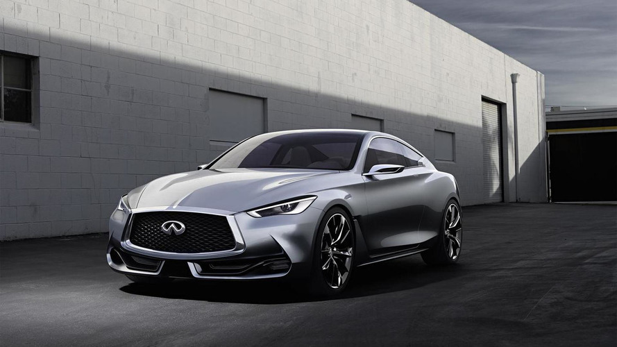 Infiniti Q60 production version due next year with two Mercedes engines