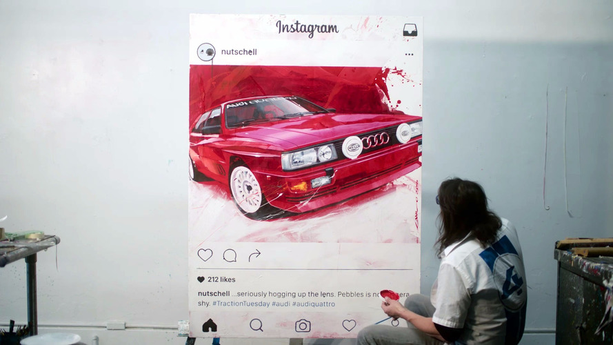 Watch an Audi Quattro Coupe be transformed into art