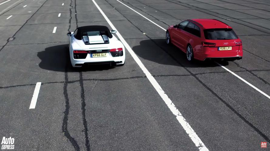 Drag Yarışı: Audi RS6 v. R8 Spyder