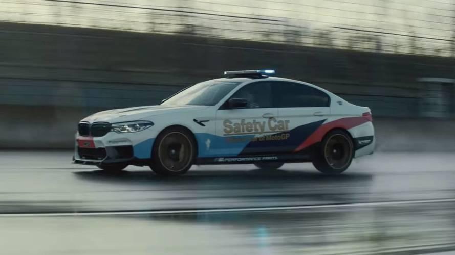M Performance parçalı M5'in tanıtım videosu