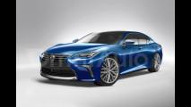 Nuova Lexus LS, il nostro rendering