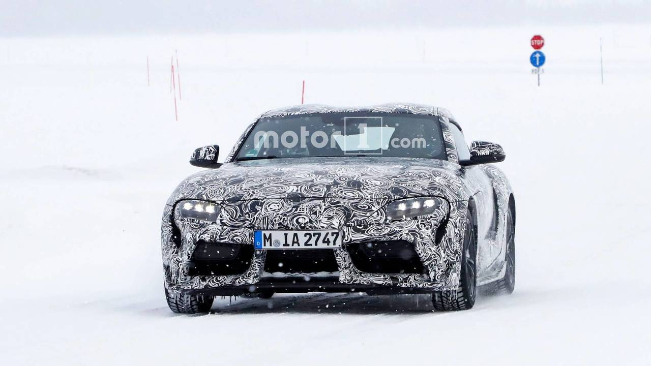 2018 Toyota Supra spy photo with less camo