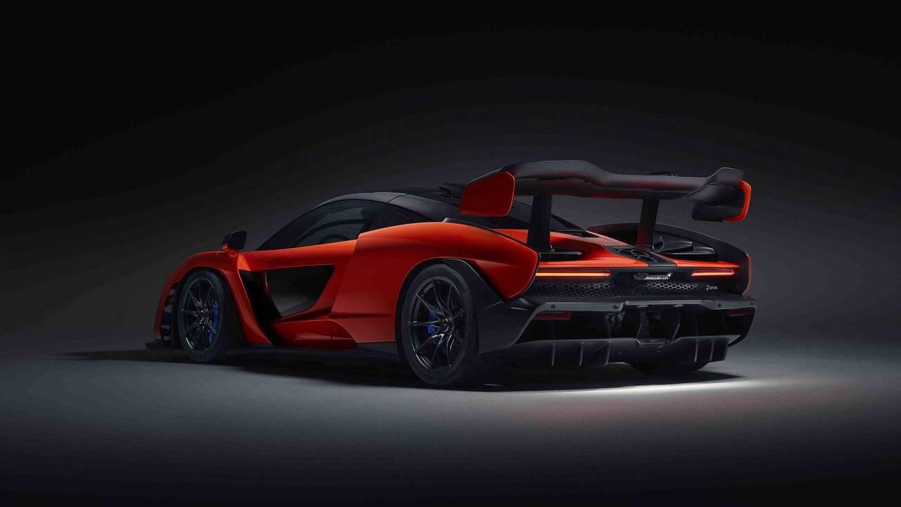 2018 McLaren Senna - L'aileron arrière