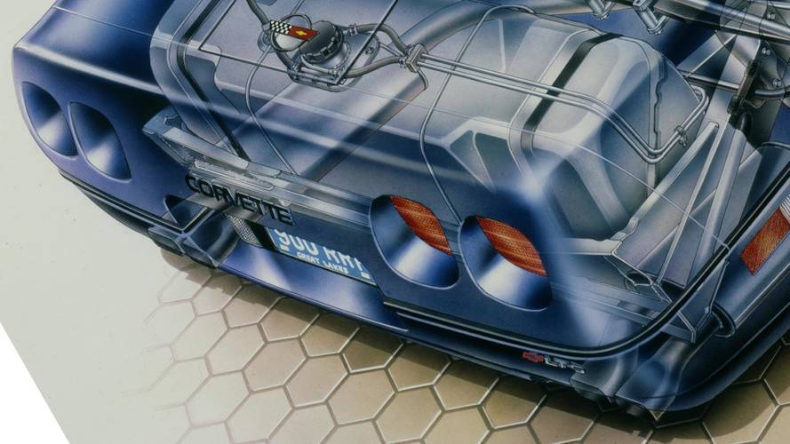 Kimble Cutaway: 1990 Chevrolet Corvette ZR-1