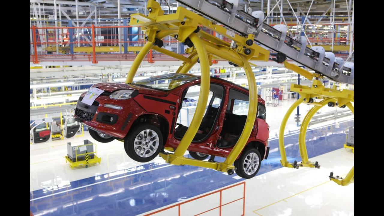 La nuova Fiat Panda nello stabilimento di Pomigliano