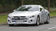2016 Mercedes-Benz SL facelift spy photo