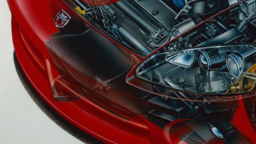 2003 Dodge Viper SRT-10 Cutaway by David Kimble