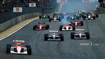 Start- Ayrton Senna, McLaren leads