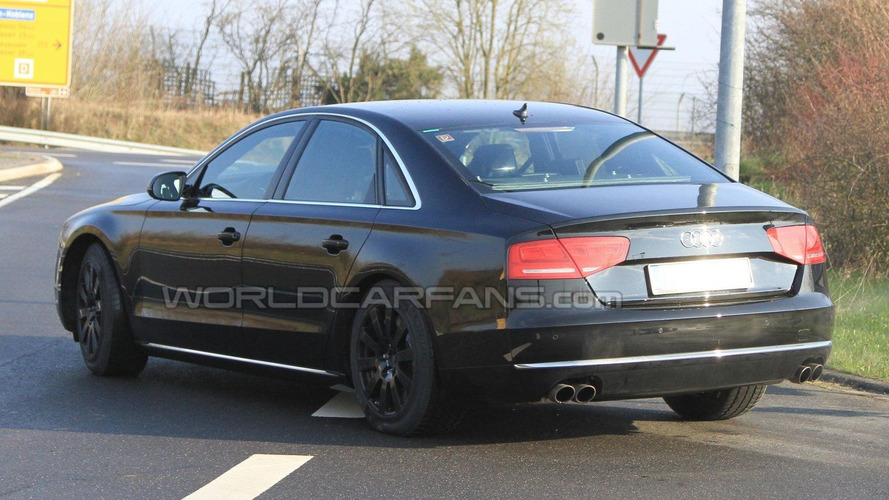 2012 Audi A8 Security First Spy Photos at Nurburgring - It's not an S8