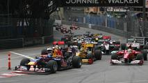 Start of the race, Sebastian Vettel (GER), Red Bull Racing, Monaco Grand Prix, 16.05.2010 Monaco, Monte Carlo