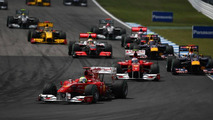 Felipe Massa (BRA), Scuderia Ferrari leads the start of the race - Formula 1 World Championship, Rd 11, German Grand Prix