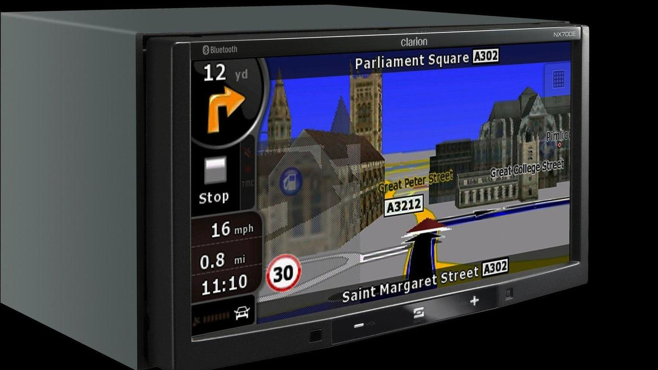 Clarion NX700E double DIN multi-media and navigation head unit, incorporating Clarion's NP509E navigation system, 24.08.2010
