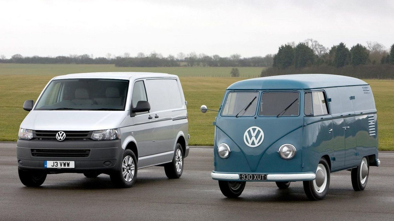 Volkswagen T5 and T1 Transporter vans 17.03.2010