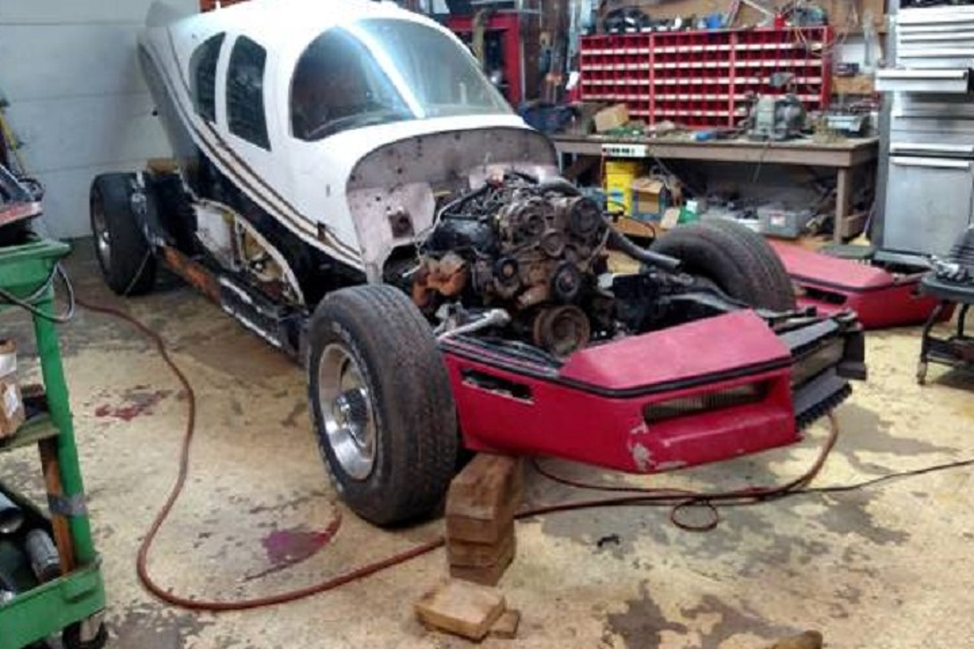 This Crazy Chevrolet Corvette/Airplane Mashup is For Sale to The Right Owner