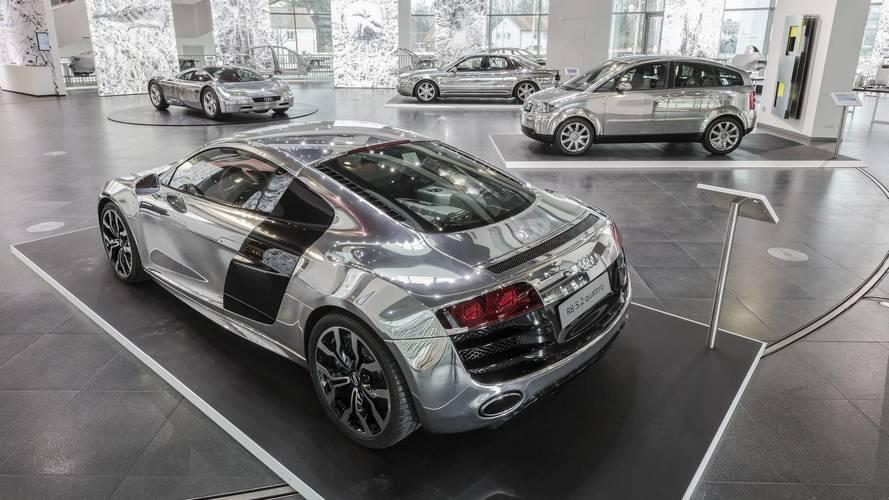 Audi expose ses modèles en aluminium
