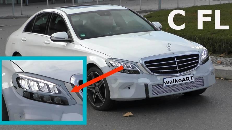 Mercedes C Serisi yeni farlarıyla yakalandı