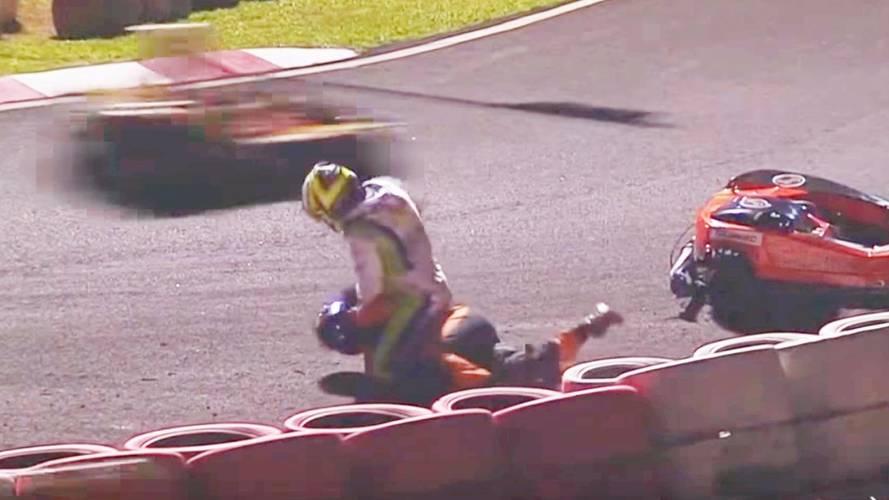 Un coéquipier de Massa se bagarre dans une course de kart