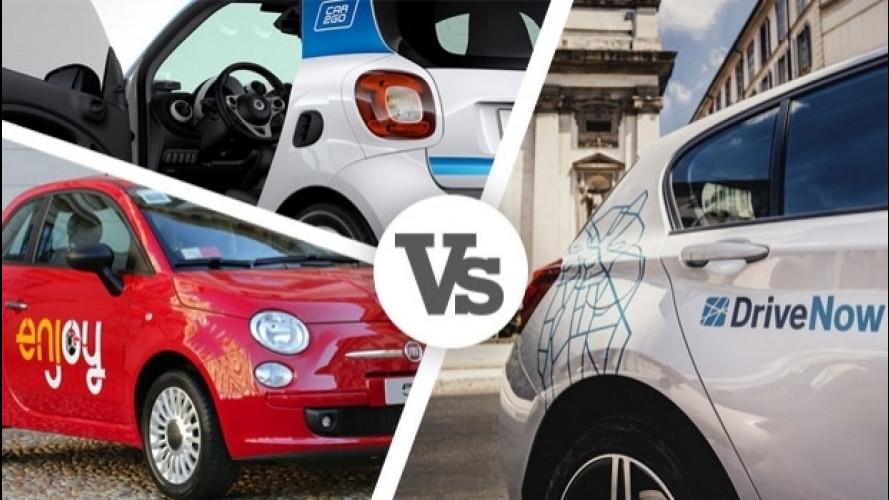 Car sharing: DriveNow, Enjoy e car2go a confronto
