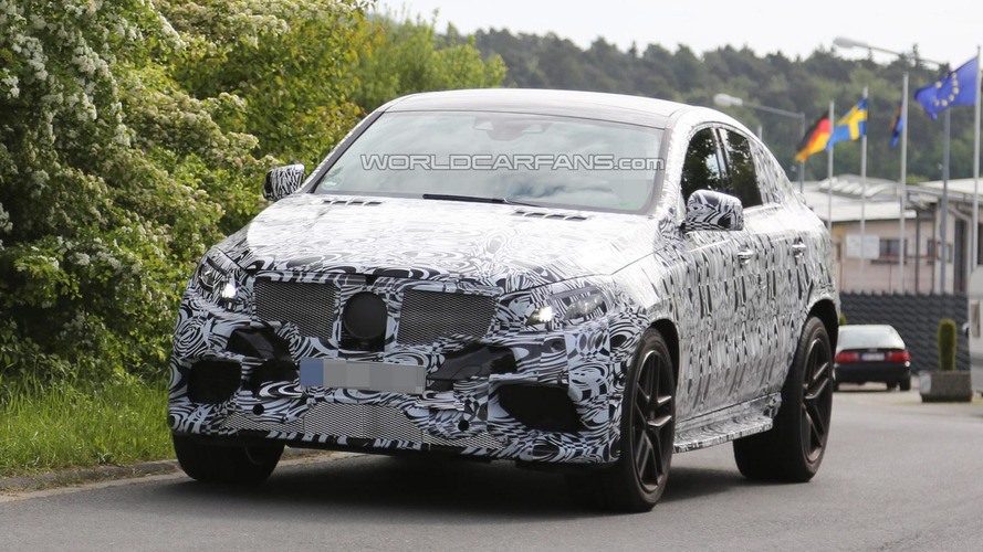 2016 Mercedes-Benz ML 63 AMG Coupe spied for the first time