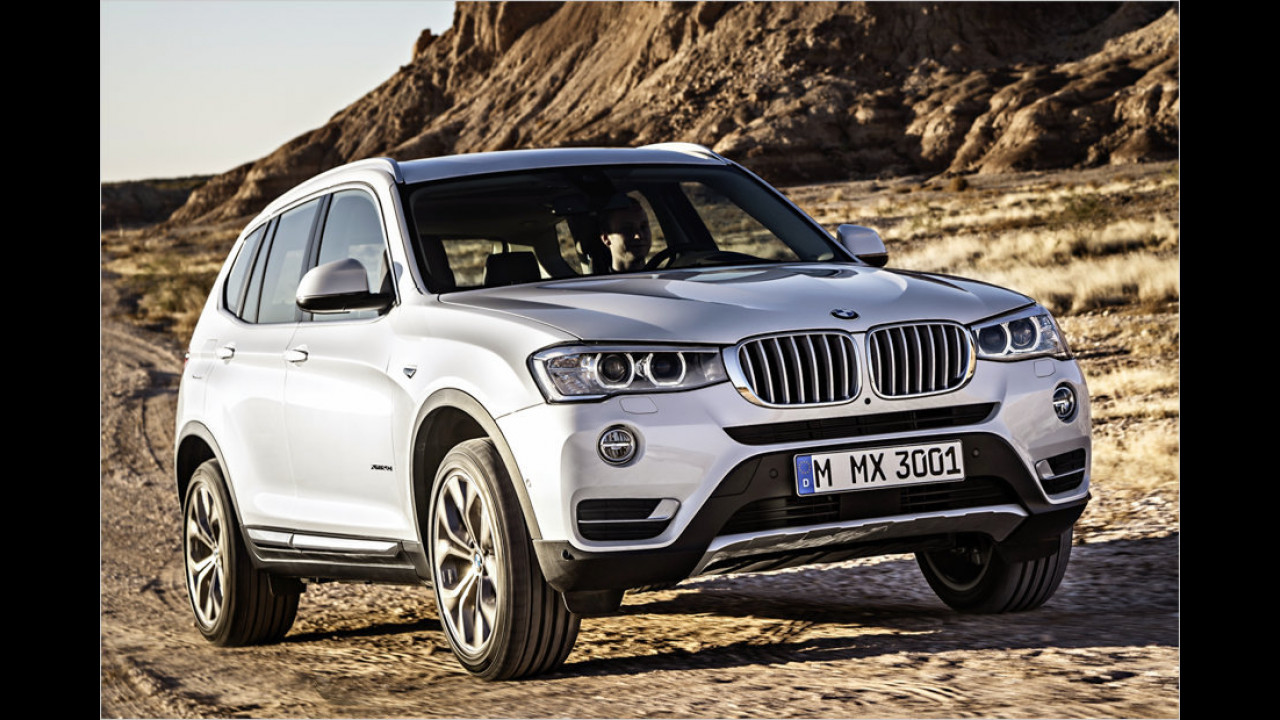 11. Platz: BMW X3 xDrive35d Steptronic
