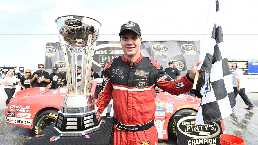 Cayden Lapcevich Nascar Pinty's Series 2016 champion