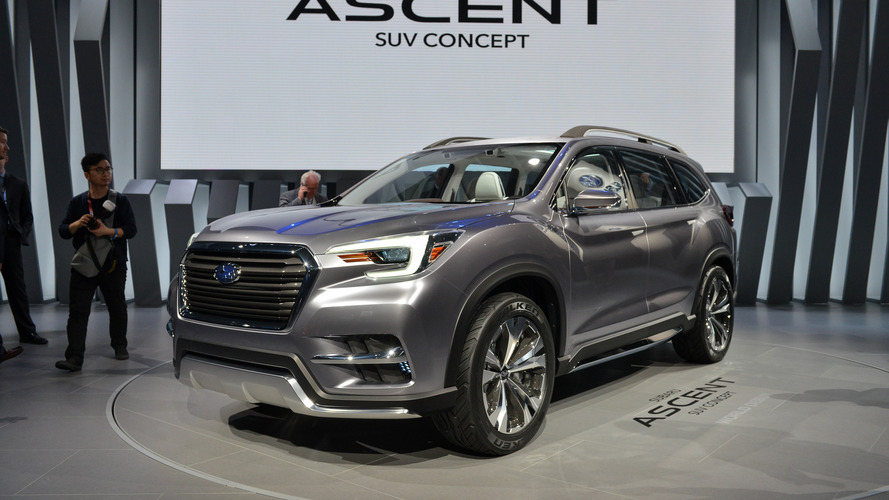 Subaru Ascent Concept antecipa SUV grande, rival do Volkswagen Atlas