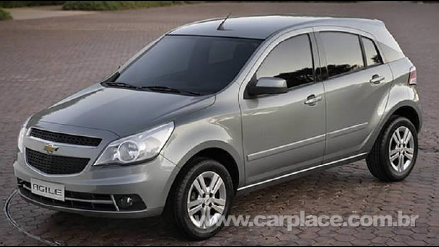 Chevrolet Agile - Veja a primeira foto oficial do novo hatch sem disfarces