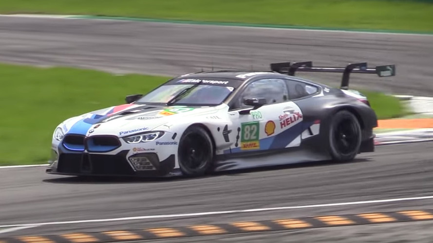 BMW M8 GTE Monza'da hünerlerini sergiliyor