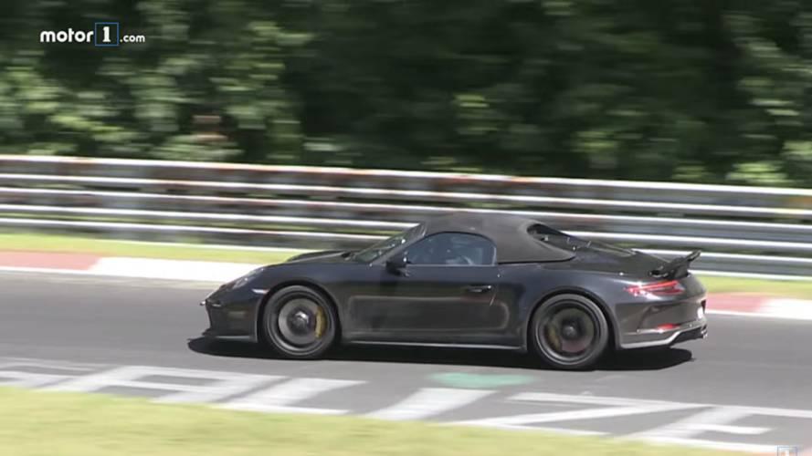 Porsche 911 Speedster, video spia al Nurburgring