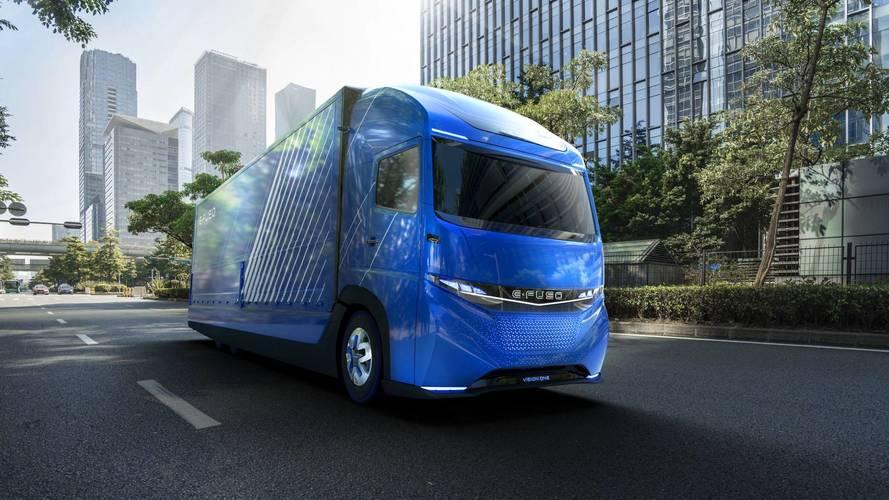 E-Fuso Vision One néven debütált a Daimler elektromos teherautója