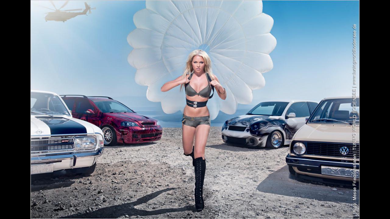 Jede Miss Tuning wird der Star eines erotischen Kalenders: In der 2012er-Ausgabe landet Mandy Lange beispielsweise auf der Insel Cres