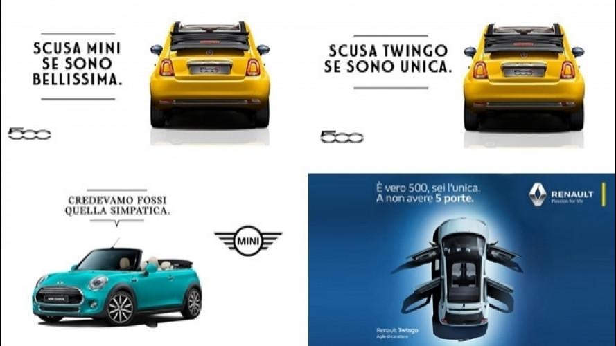 Fiat vs Renault e MINI, battibecco ironico sui social