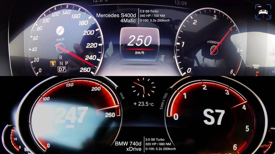 Hangi lüks dizel daha hızlı: S400 mü 740D mi?