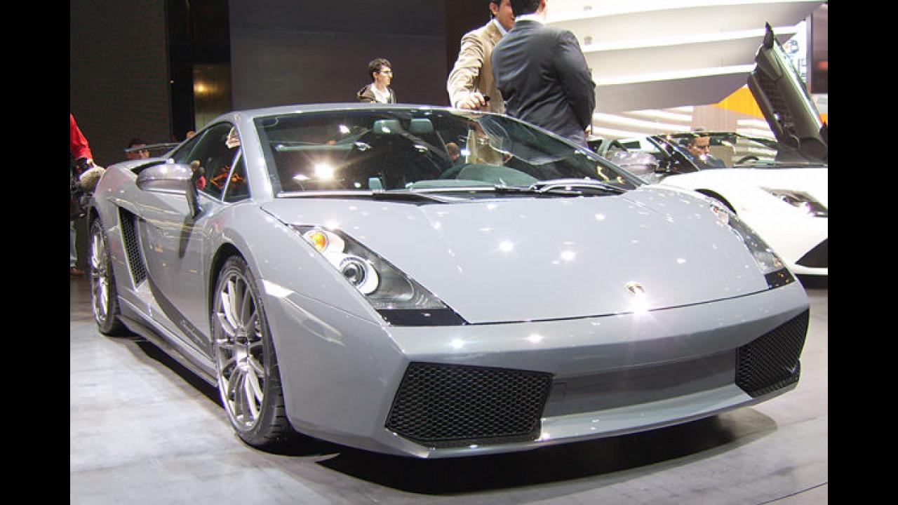 Der Lamborghini Gallardo Superleggera mit V10-Motor und 530 PS ist jetzt das Topmodell der Baureihe