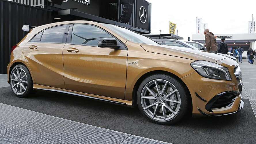 Beige Mercedes-AMG A45 Stands Out Among Hot Hatches